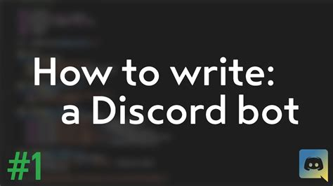discord how to make a bot how to make your own discord bot discord py tutorial 1