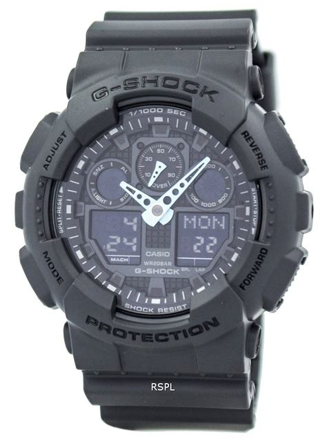 Ga 100c casio g shock analog digital ga 100c 8a mens