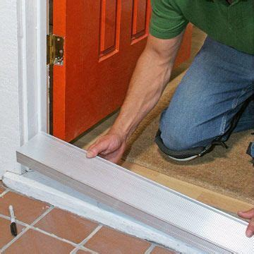 How To Install A Threshold For An Exterior Door Step By Front Door Repair Replacing A Sill And Threshold Doors And Windows