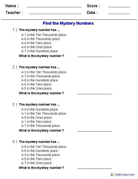 number names worksheets 187 5th grade writing worksheets find the mystery number worksheets math places number worksheets and place values