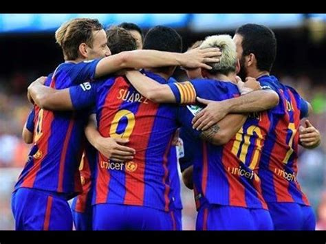 barcelona di liga chion 2017 barcelona vs real betis 6 2 all goals full highlights