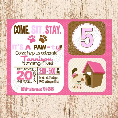 printable puppy birthday decorations personalized girls puppy party dog party birthday