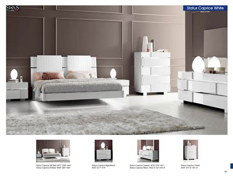 White Modern Bedroom Furniture Status Caprice Bedroom White Modern Bedrooms Bedroom