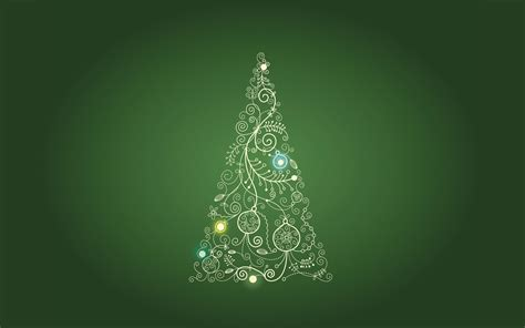 christmas tree on green backgrounds presnetation ppt