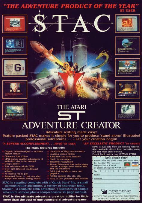 st creator atari st stac st adventure creator scans dump