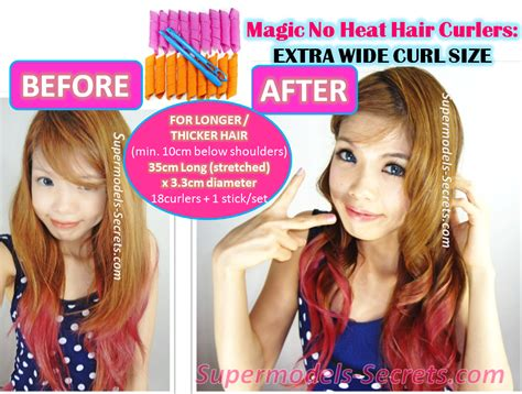 Hair Curlers Without Heat by Supermodels Secrets Magic No Heat Hair