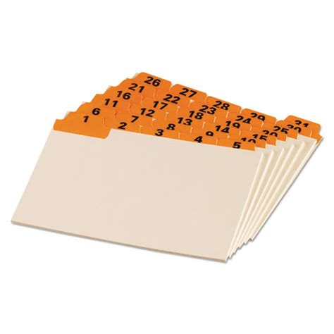 Oxford Index Card Tab Template 1 5 by Oxford Laminated Tab Index Card Guides Daily 1 5 Tab