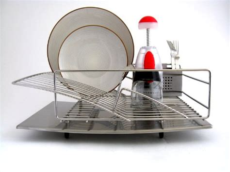 Zojila Rohan Dish Rack zojila rohan all stainless steel dish rack drain board and utensil holder self draining