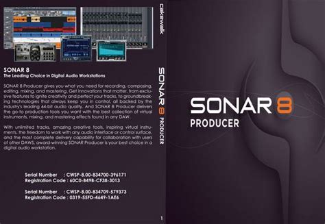 Sonar Cover by Sonar 8 Producer Pc Applications Front Cover Id45920