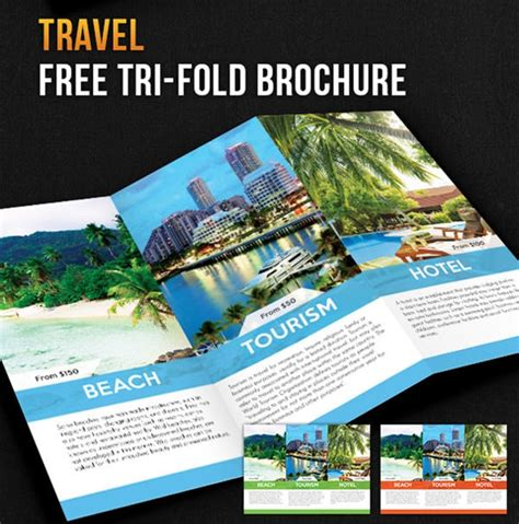Free Psd Travel Brochure Design Templates Freecreatives Make A Travel Brochure Template