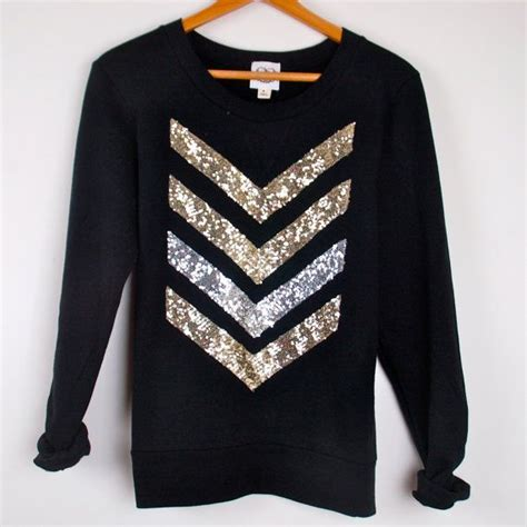 liam payne arrow tattoo shirt sequin chevron arrow design black sweatshirt the dazzle me