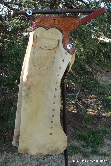 Handmade Cowboy Chaps - used handmade baker boot co leather gun cowboy chaps
