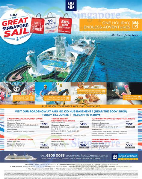 Royal Caribbean Gift Card Discount - royal caribbean roadshow at amk hub from 23 26 jun 2016