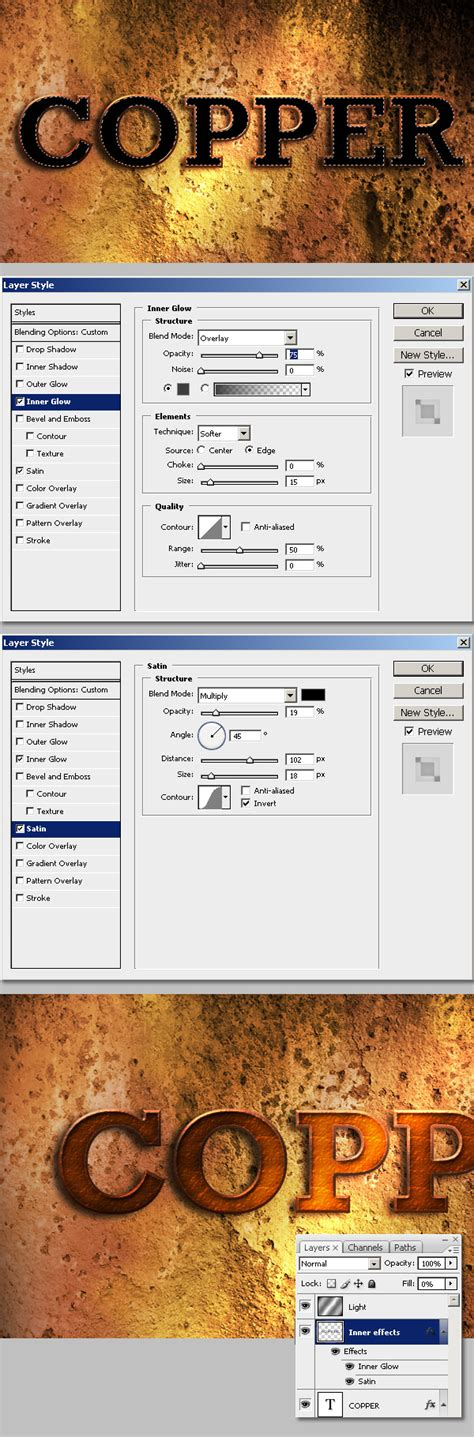 tutorial corel draw efek teks teks efek copper dengan photoshop tutorial photoshop dan