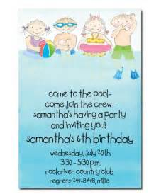 swimming birthday invitation ideas new ideas