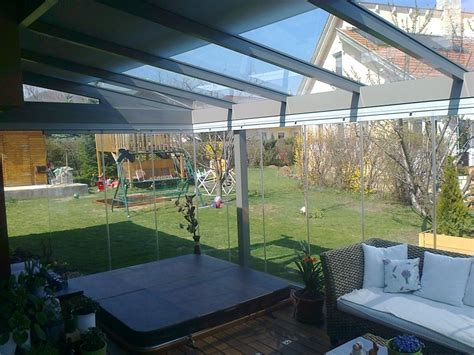 Mobiler Wintergarten terrasseneinbau mit mobiler glaswand k2 t 233 likert