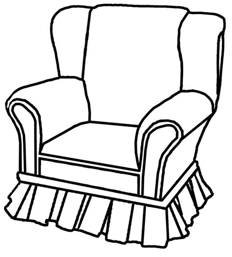 How To Draw A Armchair by Outline Drawings Of Cliparts Co