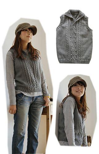pierrot yarn pattern club ravelry aran vest pattern by pierrot gosyo co ltd