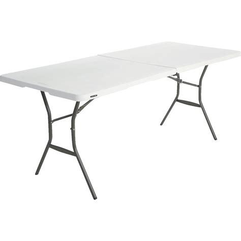 lifetime 5 essential fold in half table lifetime essential rectangle auto locking fold in half