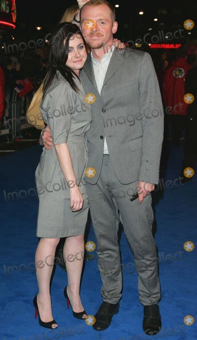 pictures london uk simon pegg  wife