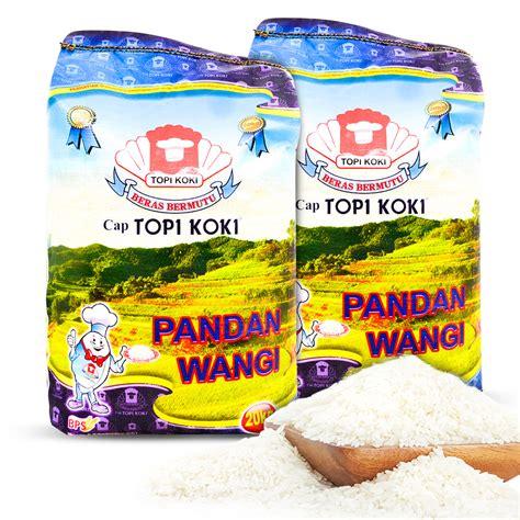 beras topi koki pandan wangi 20kg beras pandan wangi topi koki 20 kg rice elevenia