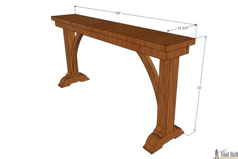 Narrow Sofa Table Buildsomething Com Thin Sofa Tables