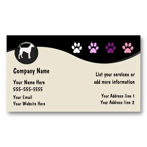 Dog Grooming Business Cards Business Cards Business And Dog Grooming Business Cards Templates