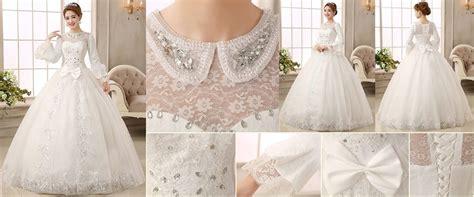 Gaun Pengantin Bridal Modern jual gaun pengantin muslimah wedding dress import lengan panjang modern rrp store