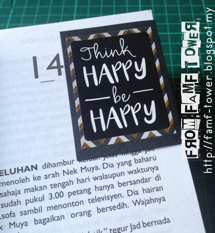 Lop Ucapan tutorial kraf kertas inspirational magnetic bookmark from famf tower