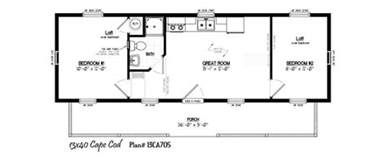 Small Bungalow Floor Plans 16x40 cabin floor plans 16 x40 cabin floor plans