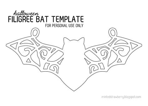 chocolate filigree templates filigree bat necklace template stencil