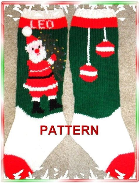 christmas stocking patterns to knit