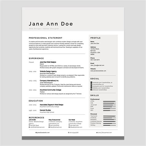 microsoft word resume templates modern personalize a modern resume template in ms word