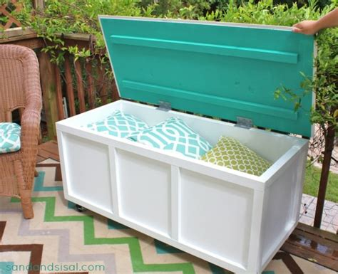 homemade storage bench diy outdoor storage benches the garden glove