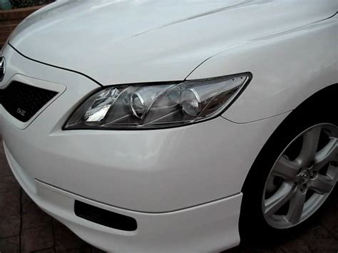 toyota camry 2009 headlights 2009 toyota camry se white with clear headlights spoiler