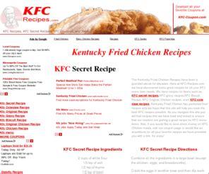 kfc recipes.com: kfc secret recipe, kentucky fried chicken