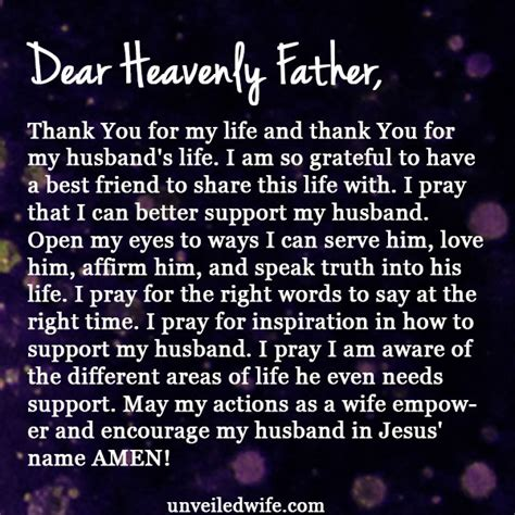 Support Letter For My Husband Prayer Supporting My Husband