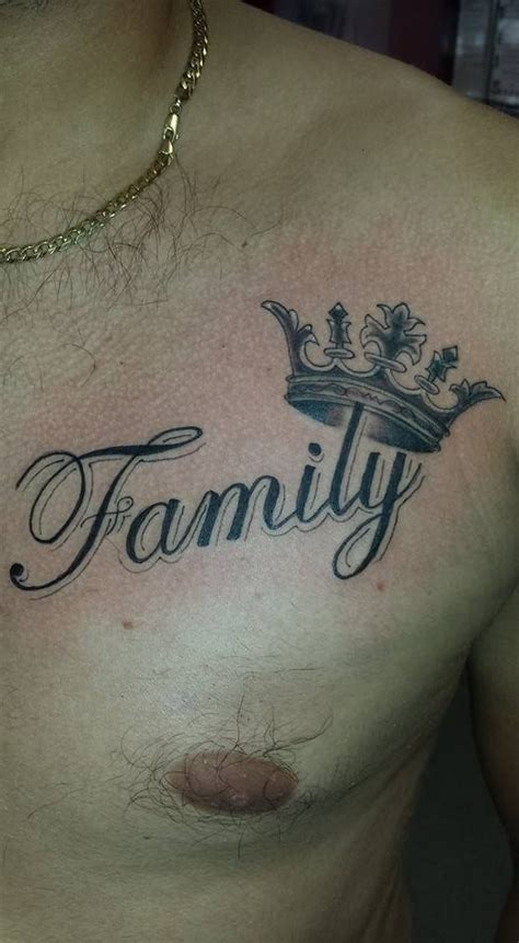family chest tattoos for men the 25 best chest writing ideas on