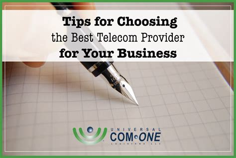 how to choose the best telecom provider universal one