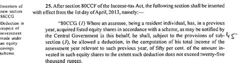 Deduction Section 80ccg by Equity Scheme