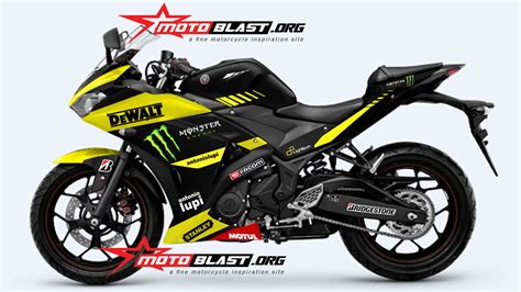 Ttx Ride Energy Tech3 modif striping yamaha r25 tech3 livery motogp motoblast