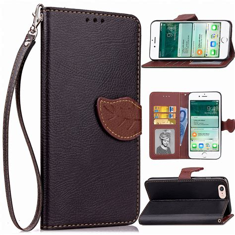 For Iphone 6 6s Plus Flip Wallet Cover Classic Soft for apple iphone 6 6s plus pu leather credit card holder