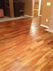 Hardwood Floor On Concrete Stained Concrete Quot Wood Quot Floors Home Deocr