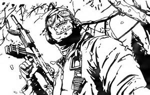 call of duty coloring pages ghost call of duty mw2 by white cyanide on deviantart