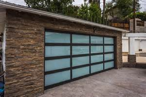 Glass Garage Doors Glass Garage Doors Black Frames White Laminate Glass