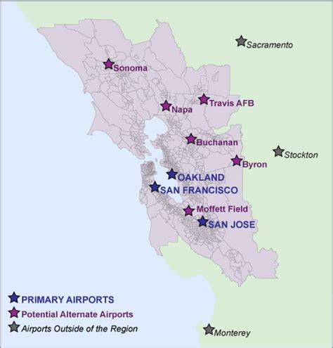 airports in san francisco map regional 171 san francisco citizen