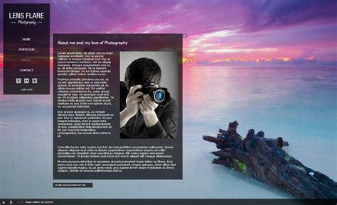 lens flare photographers serif webplus templates