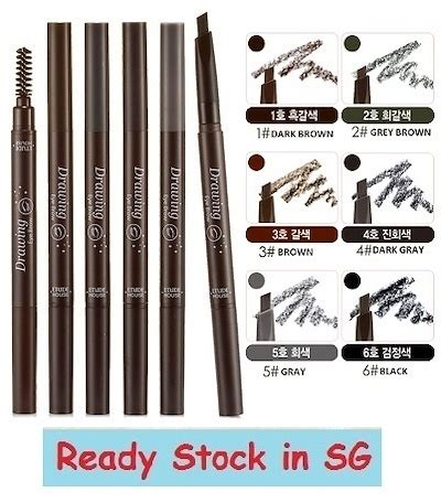 Drawing Eyebrow Etude House Eye Brow Brush Pensil Sikat 1 qoo10 stock in sg etude house drawing eye brow pencil bath nail care