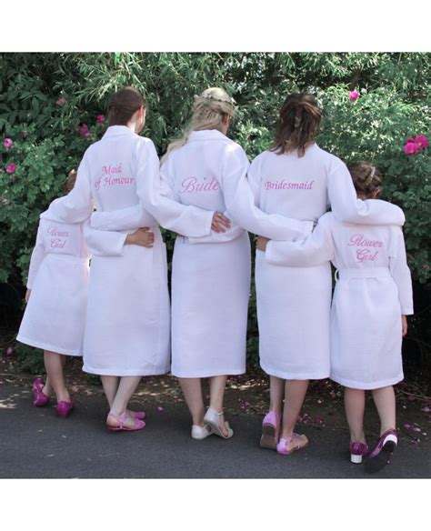 Bridesmaid Dressing Gowns by Personalised Bridesmaid Bridal Waffle Dressing