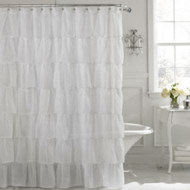 white frilly curtains 25 best ideas about ruffle shower curtains on pinterest